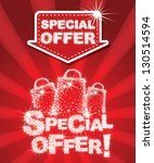 special offer set   combine by... | Shutterstock .eps vector #130514594