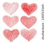 set of pencil hearts for your...   Shutterstock .eps vector #130515164