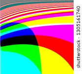 colorful abstract digital art...   Shutterstock . vector #1305161740