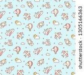 vector seamless pattern for... | Shutterstock .eps vector #1305166363