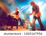 live music and rock band on... | Shutterstock . vector #1305167956