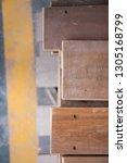 wooden slats for flooring ... | Shutterstock . vector #1305168799