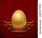Golden Easter Egg With...