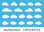 cloud. abstract white cloudy... | Shutterstock .eps vector #1305184726