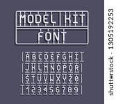 light model kit font. letters...   Shutterstock .eps vector #1305192253