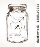 sagittarius hand drawn zodiac...   Shutterstock .eps vector #1305193963