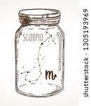 Scorpio Hand Drawn Zodiac Sign...