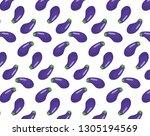 eggplant vector pattern | Shutterstock .eps vector #1305194569