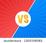 vs versus blue and red comic... | Shutterstock . vector #1305198583