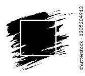 black paint brushstroke grunge... | Shutterstock .eps vector #1305204913