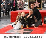 Small photo of LOS ANGELES, CA. February 05, 2019: Pink, Carey Hart, Willow Sage Hart & Jameson Moon Hart at the Hollywood Walk of Fame Star Ceremony honoring singer Pink.