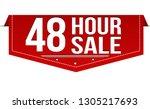 48 hour sale banner design on...   Shutterstock .eps vector #1305217693
