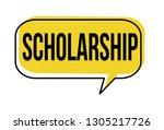 scholarship speech bubble on...   Shutterstock .eps vector #1305217726