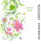 floral background with flowers... | Shutterstock .eps vector #130522256