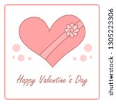valentine's day card with gift... | Shutterstock .eps vector #1305223306