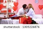 sweet affectionate couple... | Shutterstock . vector #1305226876