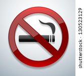 no smoking vector | Shutterstock .eps vector #130523129