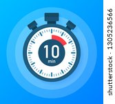 the 10 minutes  stopwatch  icon.... | Shutterstock . vector #1305236566