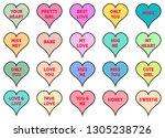 heart icon valentine...   Shutterstock .eps vector #1305238726