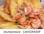 popular thai recipe pad thai...   Shutterstock . vector #1305244309