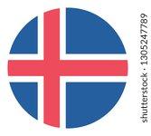 circular design flag iceland | Shutterstock .eps vector #1305247789