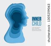 inner child illustration. 3d... | Shutterstock .eps vector #1305259063