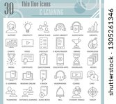 e learning thin line icon set ... | Shutterstock .eps vector #1305261346