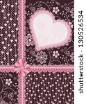 gift decorated with heart.... | Shutterstock .eps vector #130526534