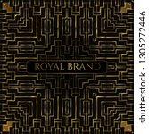 luxury premium background with... | Shutterstock .eps vector #1305272446