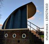unique 1930s art deco bandstand ... | Shutterstock . vector #1305276310