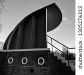 unique 1930s art deco bandstand ... | Shutterstock . vector #1305276313