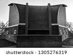 unique 1930s art deco bandstand ... | Shutterstock . vector #1305276319