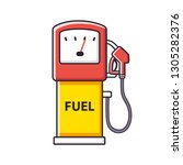 petrol fuel pump  gas filling... | Shutterstock .eps vector #1305282376