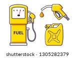 petrol fuel pump isolated ... | Shutterstock .eps vector #1305282379