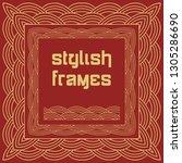 chinese frames in oriental...   Shutterstock .eps vector #1305286690