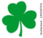 grunge clover shamrock leaf... | Shutterstock .eps vector #1305287476