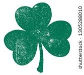 grunge clover shamrock leaf... | Shutterstock .eps vector #1305288010