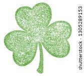 grunge clover shamrock leaf... | Shutterstock .eps vector #1305289153
