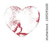 distress heart shape. creative...   Shutterstock .eps vector #1305292630