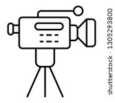 movie camera on a tripod thin... | Shutterstock .eps vector #1305293800