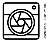 camera with aperture line icon. ... | Shutterstock .eps vector #1305294586
