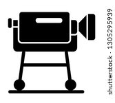 interview camera on a tripod... | Shutterstock .eps vector #1305295939