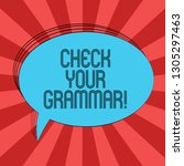 writing note showing check your ... | Shutterstock . vector #1305297463