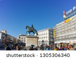 madrid  spain   january 22 ... | Shutterstock . vector #1305306340