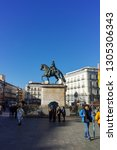 madrid  spain   january 22 ... | Shutterstock . vector #1305306343