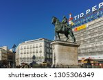 madrid  spain   january 22 ... | Shutterstock . vector #1305306349