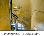stair and windows at neglected...   Shutterstock . vector #1305312343