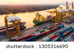 logistics and transportation of ... | Shutterstock . vector #1305316690