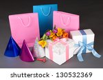tulips  gift boxes and birthday ... | Shutterstock . vector #130532369