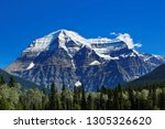 mount robson close up on a...   Shutterstock . vector #1305326620